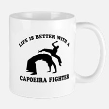 Capoeira Fighter vector designs Small Mugs
