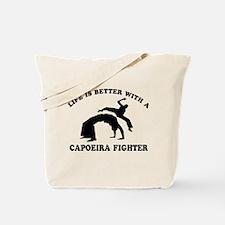 Capoeira Fighter vector designs Tote Bag