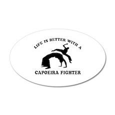 Capoeira Fighter vector designs Wall Decal