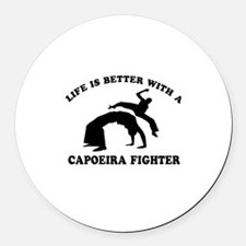 Capoeira Fighter vector designs Round Car Magnet