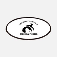 Capoeira Fighter vector designs Patches
