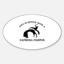 Capoeira Fighter vector designs Bumper Stickers