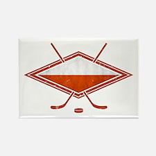 Polski Hokej Na Lodzie Flag Rectangle Magnet