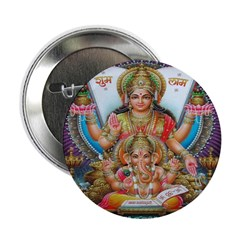 Ganesh and Krishna Buttons (10 pack)