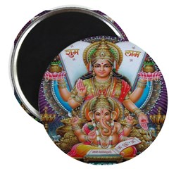Ganesh and Krishna Magnets (10 pack)