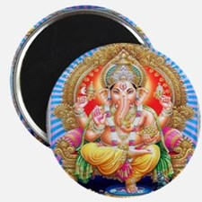 Ganesh Seated on Throne Magnets (10 pack)