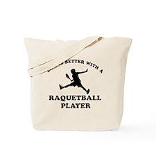 Raquetball Player vector designs Tote Bag