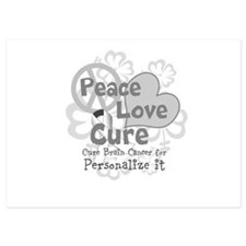 Gray Peace Love Cure Flat Cards