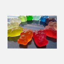 Rainbow of Gummi Bears Rectangle Magnet