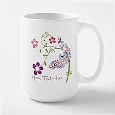 Add Text Colored Peacock Mug