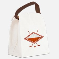 Polski Hokej Na Lodzie Flag Canvas Lunch Bag