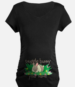 Personalized Snuggle Bunny Maternity T-Shirt