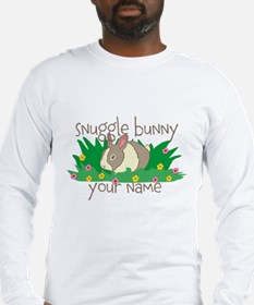 Personalized Snuggle Bunny Long Sleeve T-Shirt