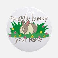 Personalized Snuggle Bunny Ornament (Round)