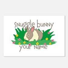 Personalized Snuggle Bunny Postcards (Package of 8