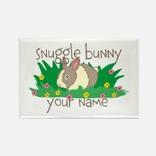 Personalized Snuggle Bunny Rectangle Magnet (100 p