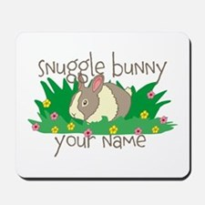 Personalized Snuggle Bunny Mousepad