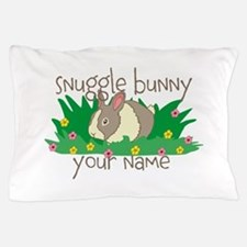 Personalized Snuggle Bunny Pillow Case