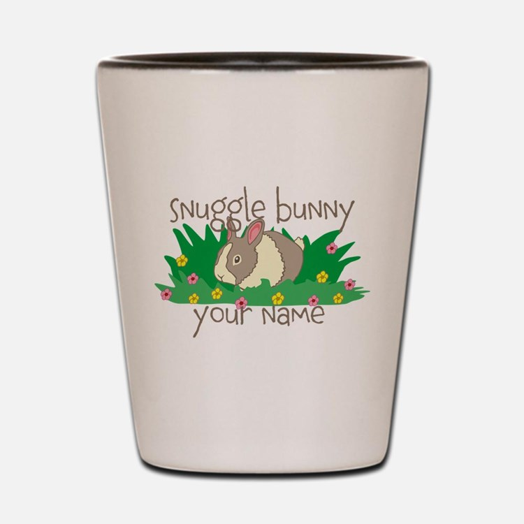 Personalized Snuggle Bunny Shot Glass
