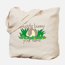 Personalized Snuggle Bunny Tote Bag