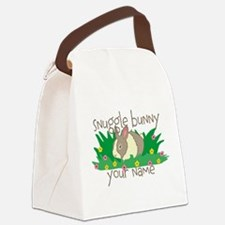 Personalized Snuggle Bunny Canvas Lunch Bag