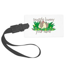 Personalized Snuggle Bunny Luggage Tag