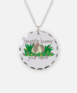 Personalized Snuggle Bunny Necklace