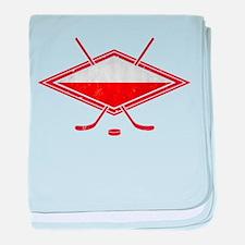 Polski Hokej Na Lodzie Flag baby blanket
