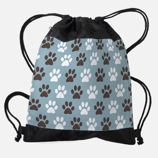 Paw Print Pattern Drawstring Bag