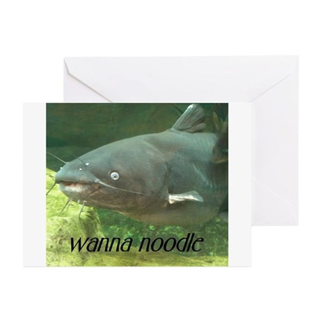 Catfish Noodle Greeting Cards (Pk of 10)