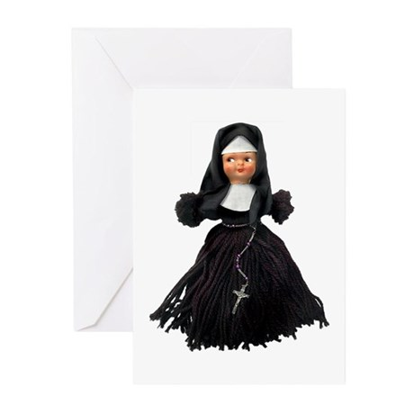 """Sister Flossie"" the Yarn Doll Nun Greeting Cards"