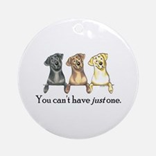 Just One Lab Ornament (Round)