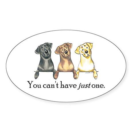 Just One Lab Sticker (Oval 10 pk)