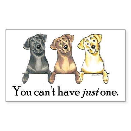 Just One Lab Sticker (Rectangle)