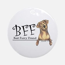 Chocolate Lab BFF Ornament (Round)