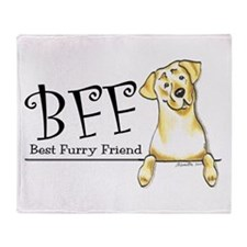 Yellow Lab BFF Throw Blanket