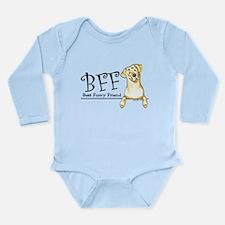 Yellow Lab BFF Long Sleeve Infant Bodysuit