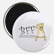 Yellow Lab BFF Magnet