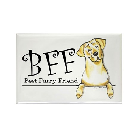 Yellow Lab BFF Rectangle Magnet (100 pack)