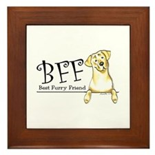 Yellow Lab BFF Framed Tile