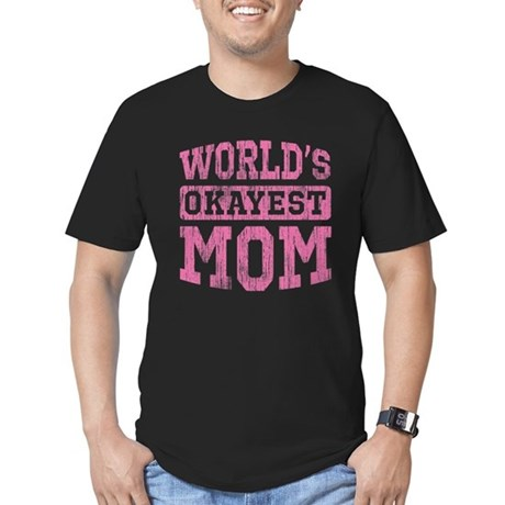 World's Okayest Mom [v. pink] Men's Fitted T-Shirt