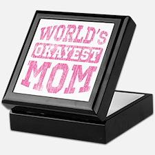 World's Okayest Mom [v. pink] Keepsake Box