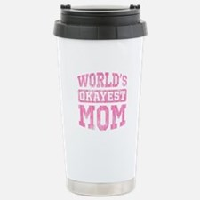 World's Okayest Mom [v. pink] Travel Mug