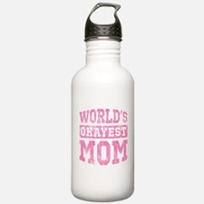 World's Okayest Mom [v. pink] Water Bottle