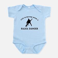Salsa Dancer vector designs Infant Bodysuit