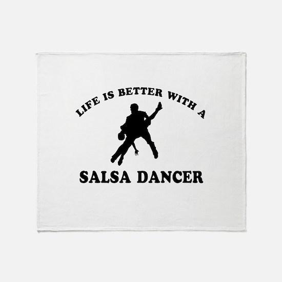 Salsa Dancer vector designs Throw Blanket