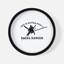 Salsa Dancer vector designs Wall Clock
