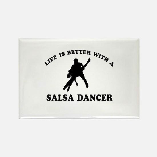 Salsa Dancer vector designs Rectangle Magnet