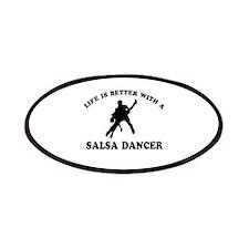 Salsa Dancer vector designs Patches