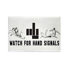 Watch For Hand Signals Rectangle Magnet (100 pack)